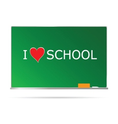 School table with message heart vector