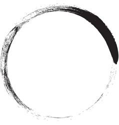 Scribble line circle doodle circular round logo d vector