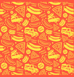 Seamless pattern for street food festival vector