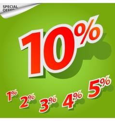 Set labels percent vector