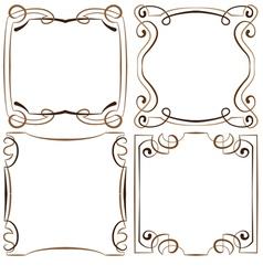 Set of four decorative multilayer frameworks vector