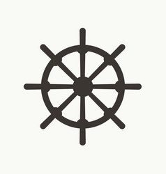 ship wheel simple icon vector image