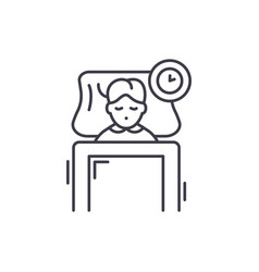 sleep line icon concept sleep linear vector image