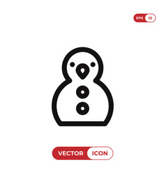 snowman icon christmas symbol vector image