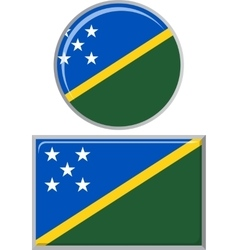 Solomon Islands round and square icon flag vector image