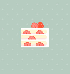 strawberry layer cake with filling vector image