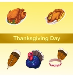 Symbolic attributes of a holiday five icons vector