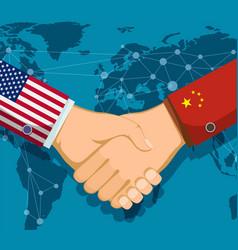 Trade war policy between usa and china vector