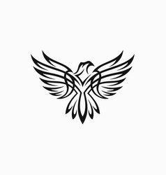 tribal eagle tattoo vector image