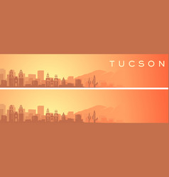 Tucson beautiful skyline scenery banner vector