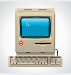 Vector retro computer xxl icon vector