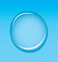 Water droplet blue vector