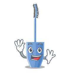 Waving mascara brush in the cartoon shape vector