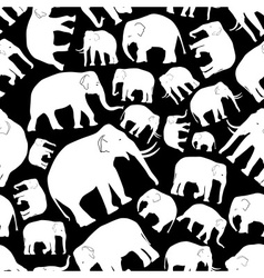 White elephants seamless pattern eps10 vector