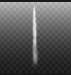 White jet smoke trail realistic air rocket fog vector