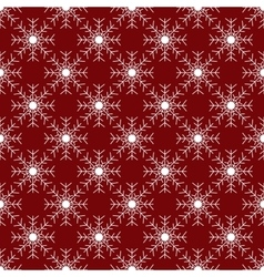 White snowflakes on red background seamless vector image