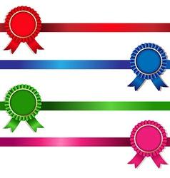 Color Rosette Set vector image