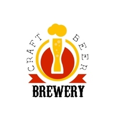 Craft Beer Brewery Logo Design Template vector image vector image