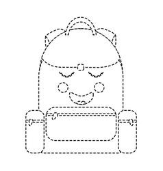 school backpack kawaii cartoon character vector image