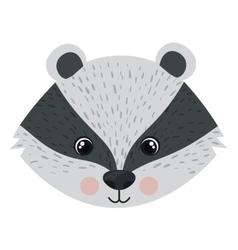 Isolated skunk cartoon design vector image