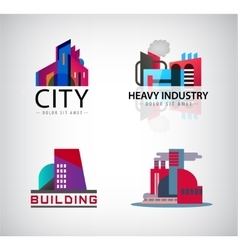 set of colorful building logos icons vector image vector image