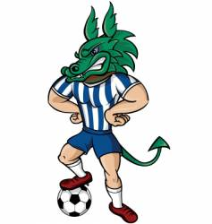 soccer dragon vector image