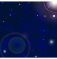 Space background withbright stars in cosmos vector image