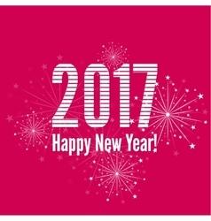 Creative happy new year 2017 vector