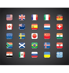 flags apps set vector image vector image