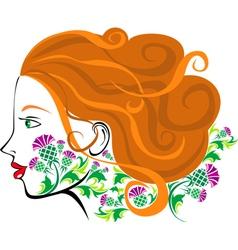 Scottish women face vector image