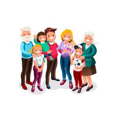 baby big family portrait vector image vector image