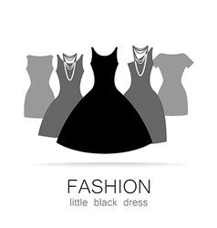 black dress set vector image vector image