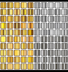 gold and silver gradients vector image vector image