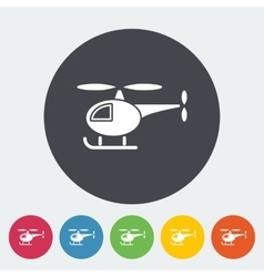 Helicopter flat icon vector image