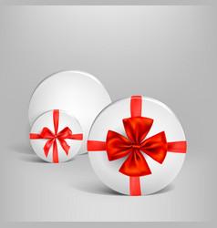 holiday white box set vector image