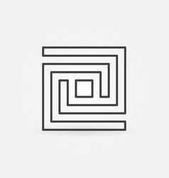 labyrinth line icon vector image vector image