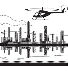 sightseeing helicopter tour vector image