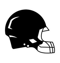 silhouette american football helmet protection vector image