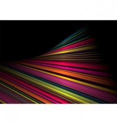 twisted rainbow shine vector image vector image