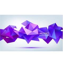 3d abstract geometric facet shape use for vector image