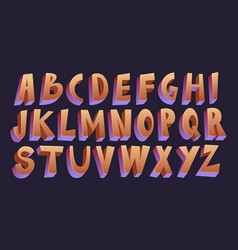 3d cartoon font vector