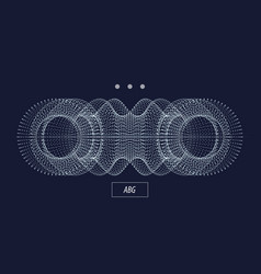 3d particle abstract object technology vector