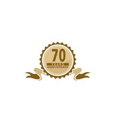 70 years ribbon anniversary vector image
