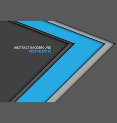 abstract blue arrow direction on gray design vector image
