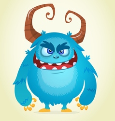 Angry cartoon monster vector
