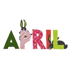 April month name vector
