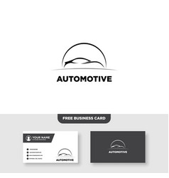 Auto speed and automotive logo and business card vector