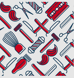 Barber shop seamless pattern vector