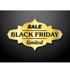 Black Friday sale card design vector image