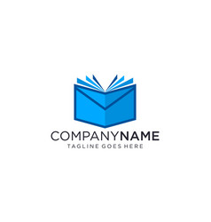 Book and message logo designs concept vector